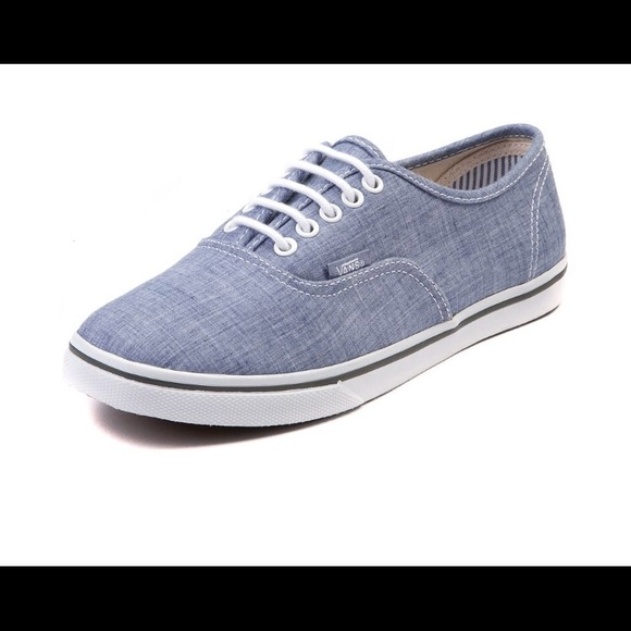 Vans Shoes | Chambray Vans | Poshmark